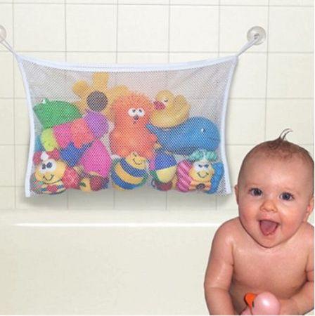 Armazenamento de brinquedos banheira