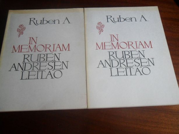 """""""RUBEN A. - In Memorian Ruben Andresen Leitão"""" de Vários 1ª Ed. 1981"""