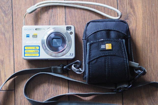 Aparat Sony DSC-W120 + karta 1GB + etui