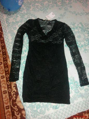 Платье Черное верх прозрачный новое даже с биркой