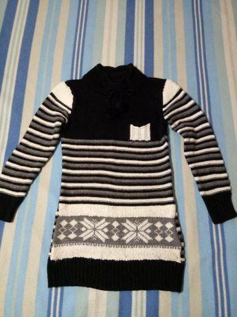 Удлиненный свитер 42-44р