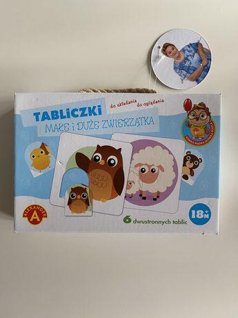 Tablice ze zwierzątkami układanki dla dziecka