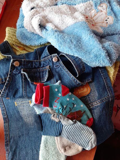 Пакет вещей.мальчик,девочка.Костюм махра,джинсы,свитер. 0,5-3