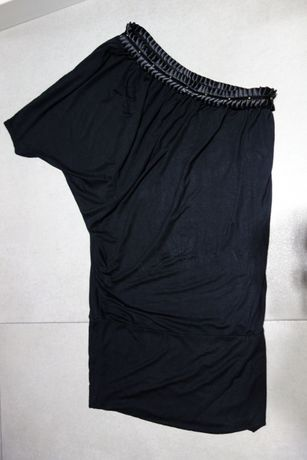 Tunika bluzka RESERVED damska rozm 38 M asymetryczna czarna