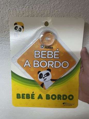 Panda Bebe a bordo adesivo para viaturas