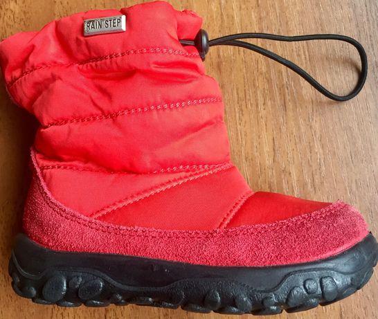 Зимові водонепроникні чобітки для дівчинки 1-1,5 року