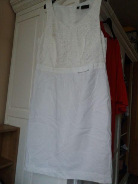sukienka biała koronka r.12