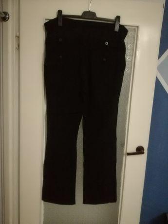 Czarne spodnie ciążowe c&a, roz 46