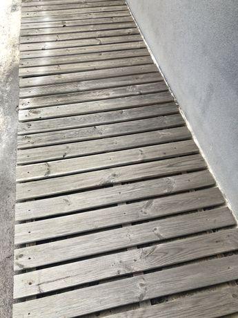 Deck Madeira Pinho Ranhurado