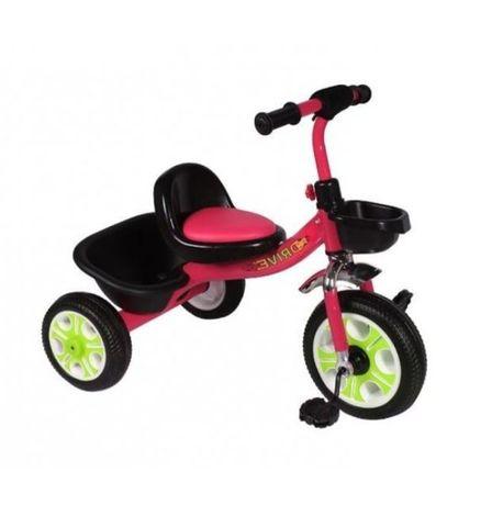 Трёхколёсный велосипед КРАСНЫЙ с корзинкой