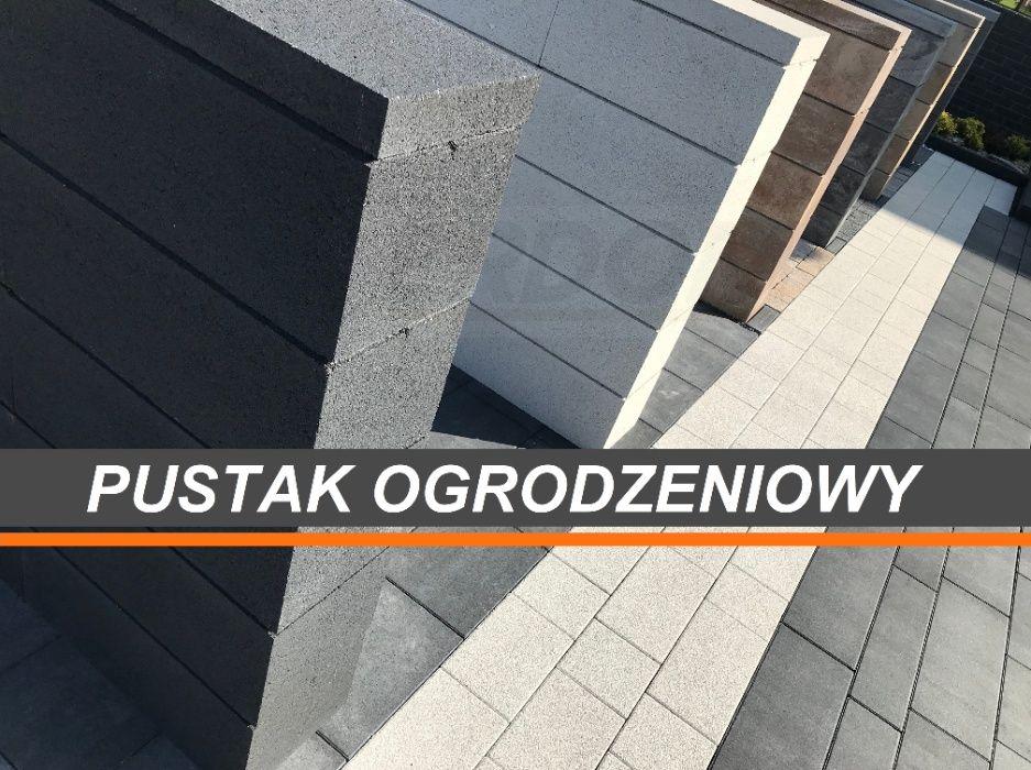 Pustak ogrodzeniowy / Bloczek ogrodzeniowy / Ogrodzenie Grafit Gładki