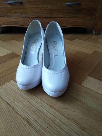 Białe buty ślubne rozm. 37