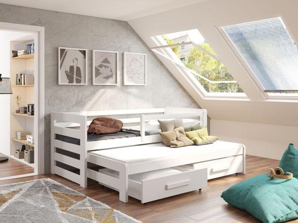 Drewniane łóżeczko dla dziecka polskiej firmy Jasio Premium