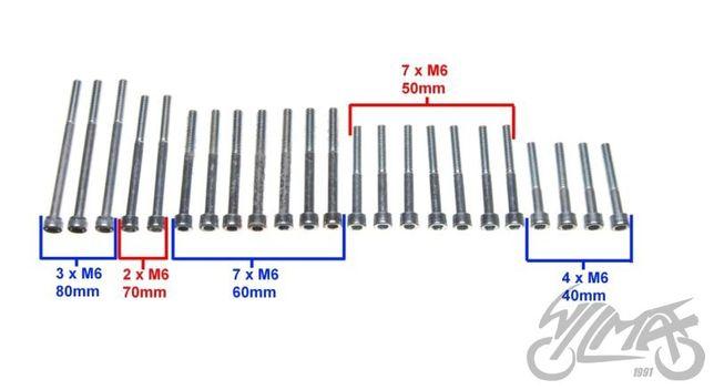 śruby silnika do MZ ETZ 250 lub do MZ ETZ 150, zestaw, PRL