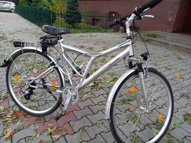 Piękny lekki rower miejski FISCHER Aluminum 26 Kettler Batavus jakNOWY