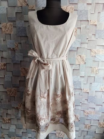 Новое серое платье