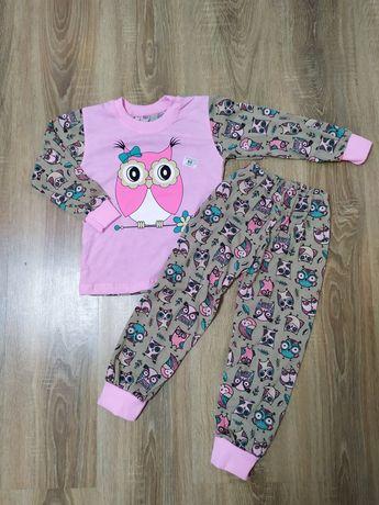 Пижама хлопок для девочек Совушки 3-7 лет
