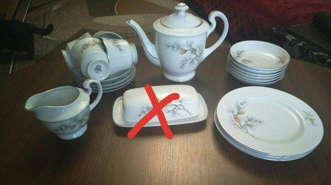 Чайная пара,  масленица, молочник, чайник заварник, тарелки