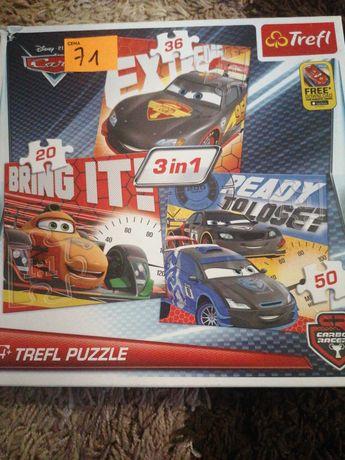 Puzzle cars samochody 3w1 4+