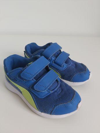 Buty chłopięce niebieskie Puma 27,5, wkładka 17,4 cm.