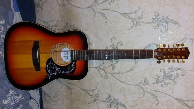 Продам новую мастеровую 12 струнную акустическую гитару FENDER США
