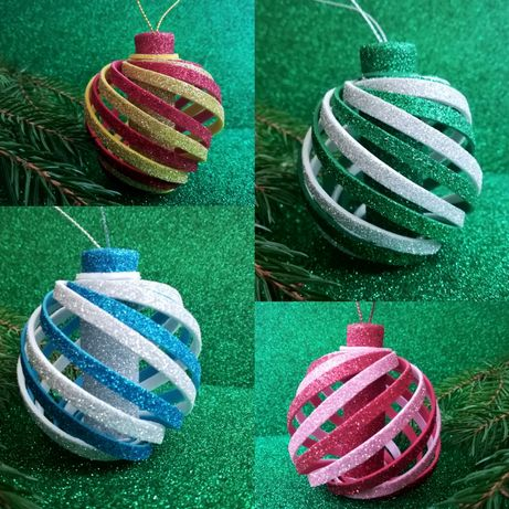 Новорічні іграшки з фоамірану/Новогодние игрушки