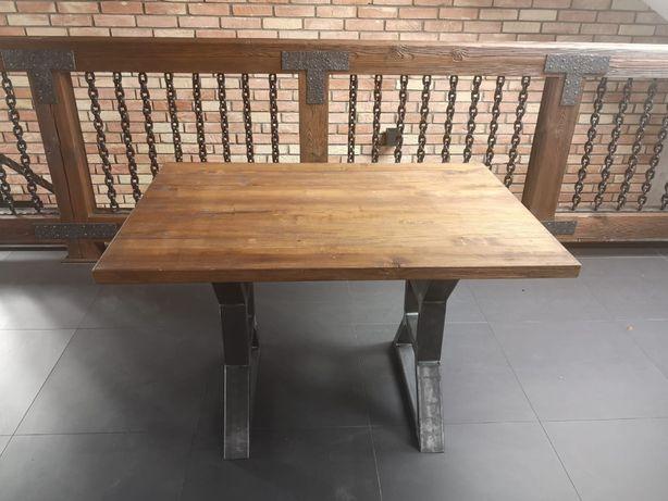STÓŁ BLAT DĘBOWY stoły 120X80X75 180X80X75 indusrial vintage loft