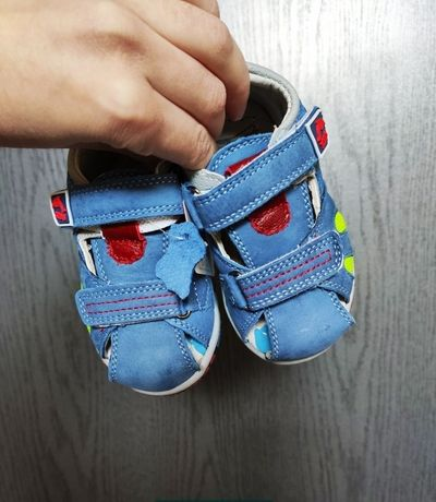 Кожаные босоножки, сандали для мальчика