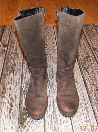 Зимние замшевые сапоги для девушки , размер 38