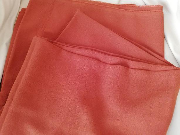 Tkanina, materiał, żorżeta 145 cm x 300 cm - rudy