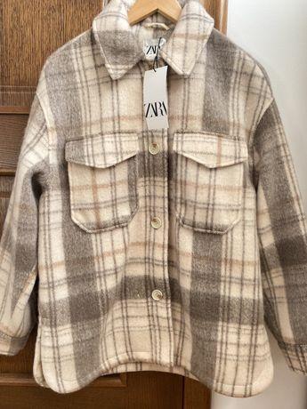Nowa kurtka koszulowa ciepła gruba Zara S