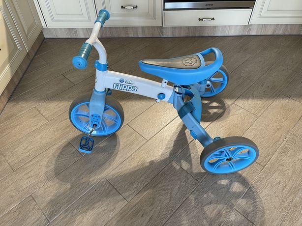 Велосипед, velo flippa 2 in 1, беговел, трехколесный велосипед