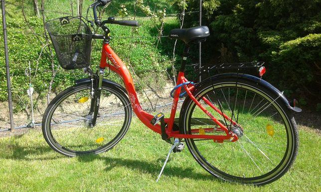 Czerwony polski rower 28 cali