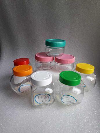 Посуда Емкость для приправ специй стекло набор  100, 200 мл Новая 8 шт