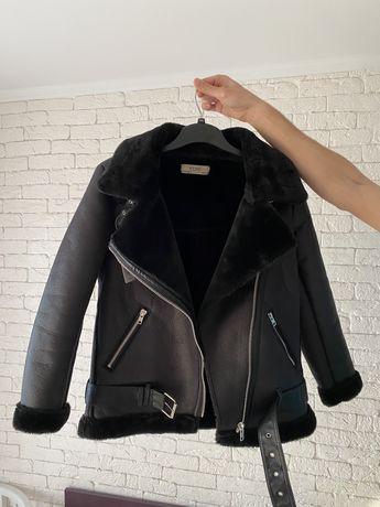 Дублёнка авиатор курточка под Zara. Размер S