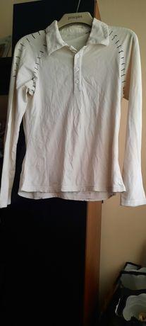 Camisola branca com botões
