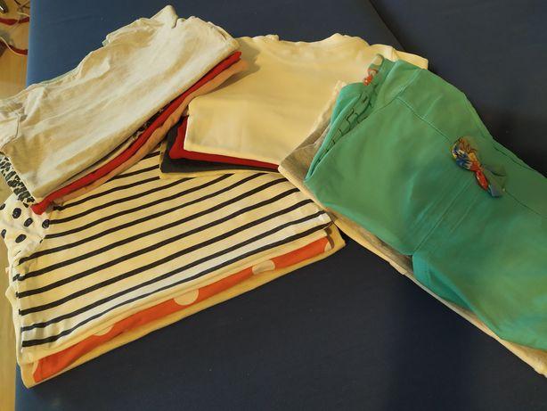 Bluzki na długi rękaw rozmiar 116.