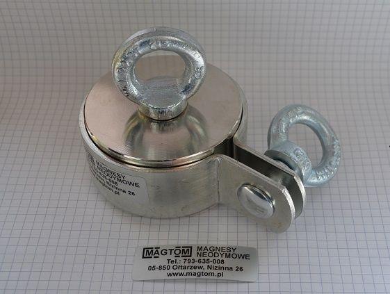 Magnes neodymowy w uchwycie do poszukiwań 80x40 N42 magnesy neodymowe