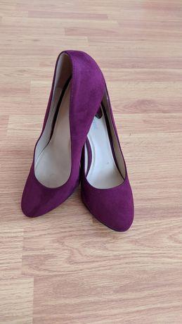 Туфлі замшеві, бордові