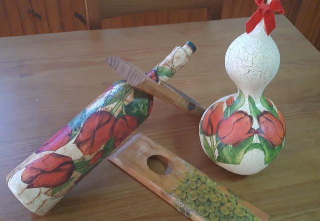 Garrafa/garrafão e cabaça decorativa