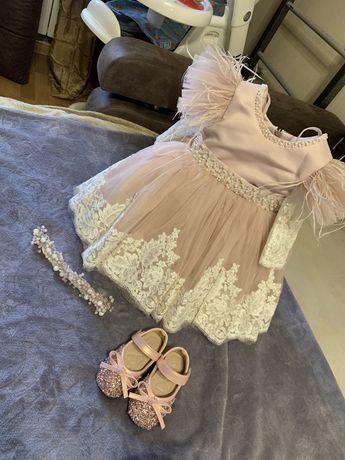 Платье на годик,туфли