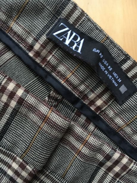 Zara spodnie w kratke zara