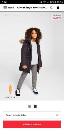 Пуховик Zara Mango 6-7 лет куртка пальто