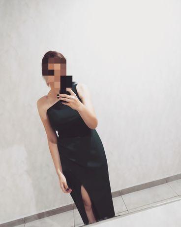 Długa sukienka na jedno ramię