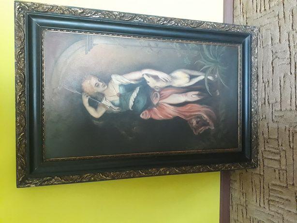 Obraz jak na zdjęciu, Zakład malarstwo artystycznego, drewniana rama