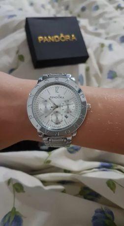 PANDORA nowy damski zegarek, bransoleta, kolor srebrny