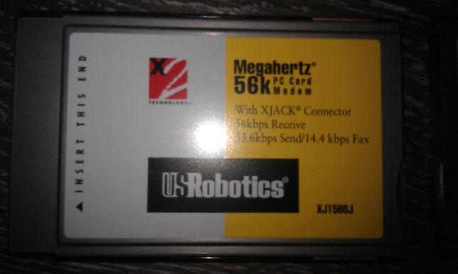 модем для ноутбука PC Card Modem 56 k US Robotics