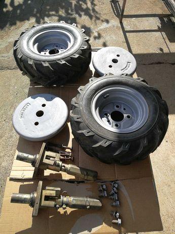 Conjunto rodas, eixos e pesos para moto enxada