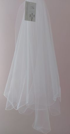 Biały welon 80cm