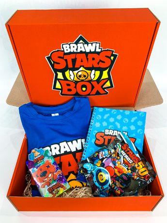 "Набор Brawl Stars Box Бравл Старс Бокс ""Мега Ящик футболка игрушка"